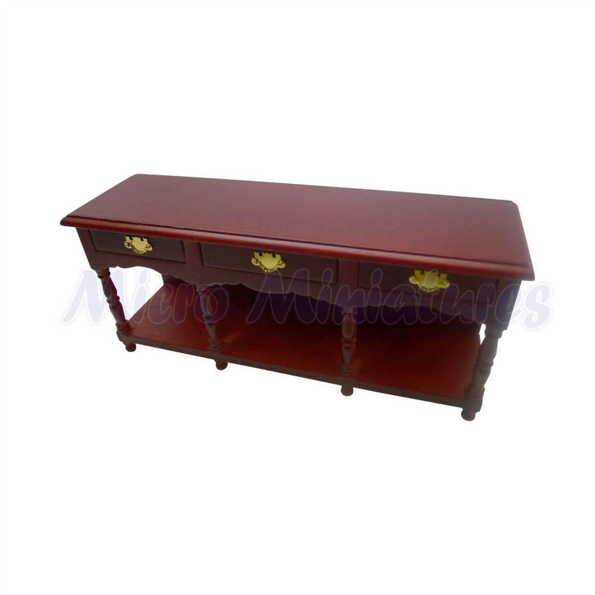 1//12 Scale Dolls House Babette/'s miniatures Buffet side table//sideboard//cabinet